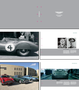 Aston Martin Racing Print  Prospectus: project management of design and production