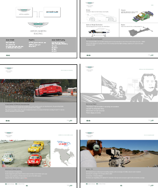 Aston Martin Racing Digital Prospectus: project management of design and production
