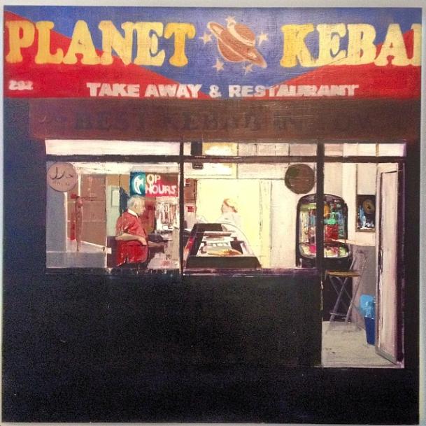 Brett Amory artist Lazarides Kebab Shop
