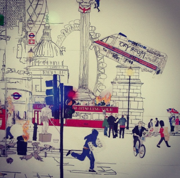 Laura Jordan illustration London riots