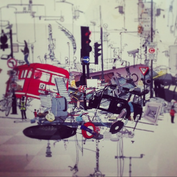 Laura Jordan illustration London riots