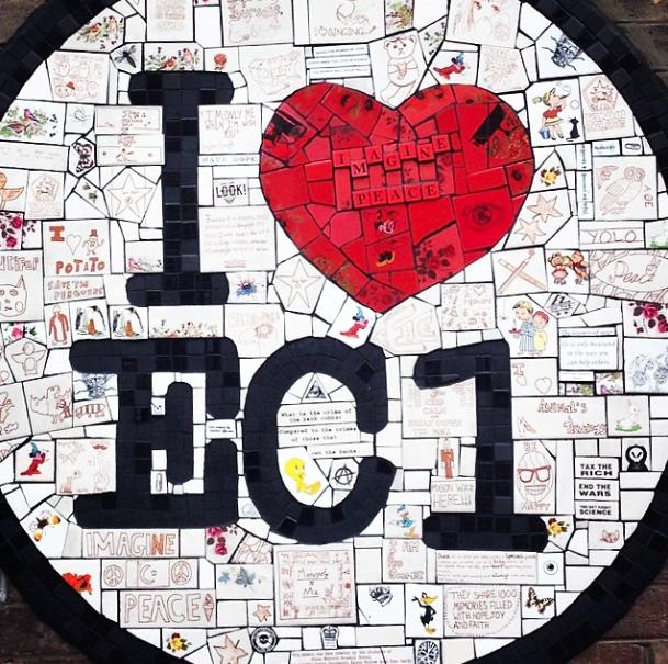 Street art mural EC1 London