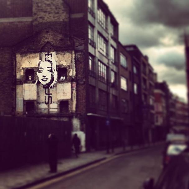 Zaha Hadid 3D face Domus Tiles installation