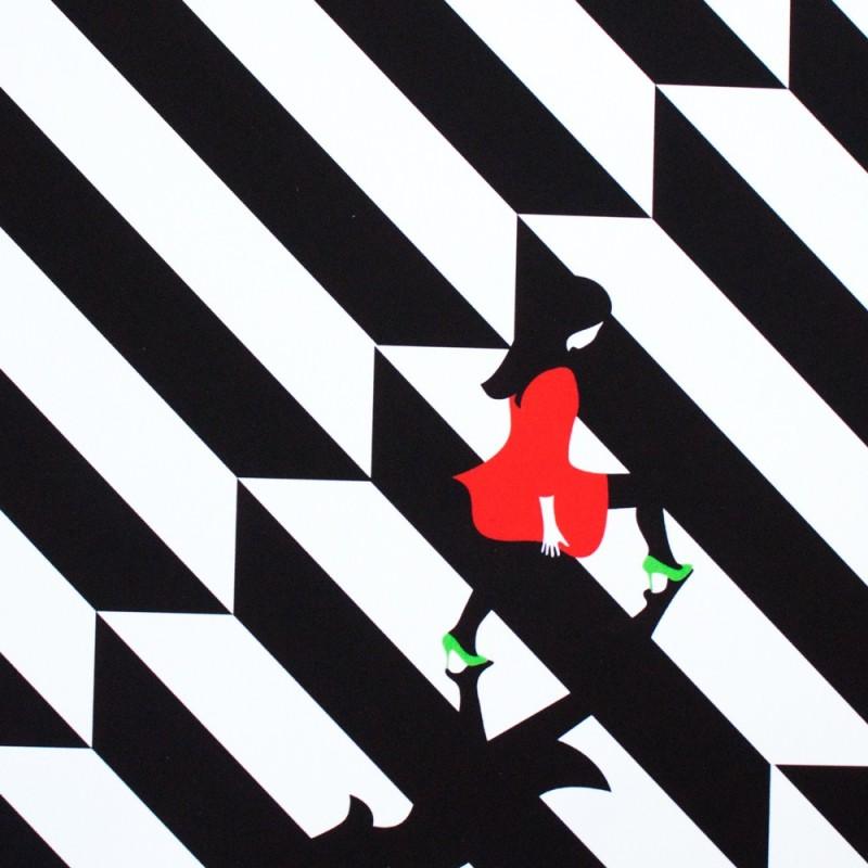 Woman climbing illustration by malika favre